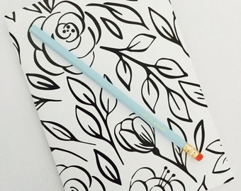 Notebook and Pencil - MONO FLORAL
