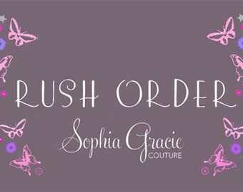 Sophia Gracie Couture, Rush My Order, 5-7 working days, Priority Order, Girl's Clothing, Christmas Dress