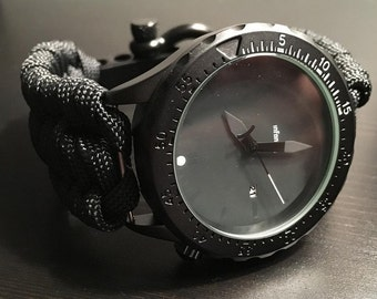 New!! Survival Paracord Watch Trilobite Weave TJPARACORD