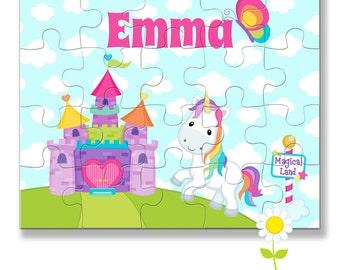 Unicorn Name Puzzle for Kids - Personalized Unicorn Puzzle - Custom Name Jigsaw Puzzle - Birthday Gift for Girls - Stocking Stuffer