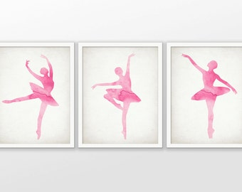 Ballet Wall Art watercolor nursery painting ballerina art watercolor birds