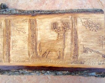 Whitetail Deer Carving