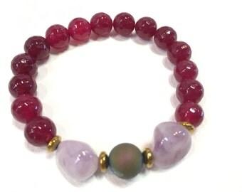 Agate Amethyst Quartz Yoga Bracelet