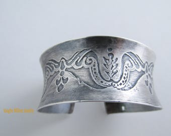 Angel Wings Fly - Anti-Clastic Sterling Cuff