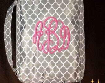 Monogrammed Bible Cover, Bible Case, Bible Holder, Personalized Bible Case, Bible Accessories, Chevron Bible Case, Quatrefoil Bible Case
