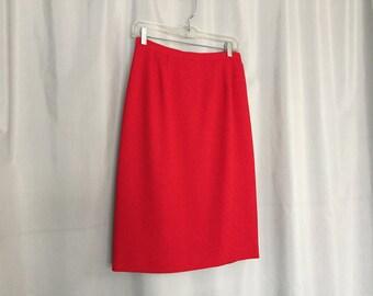 Red Skirt Vintage Pencil Skirt Women's size 6