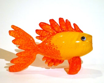 Gold Fish Blown Glass