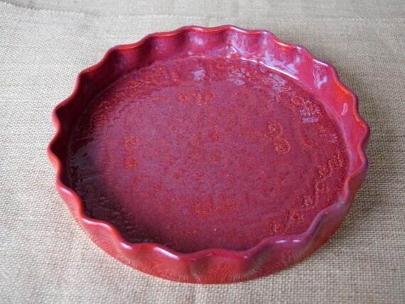 Ceramic Handmade Pie Pan
