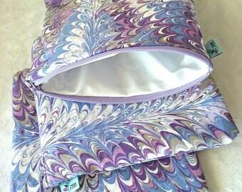 Purple Fan | Cloth Pad Wetbag | SMALL
