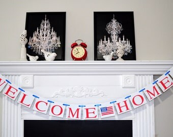 Military welcome home banner, Deployment Homecoming, Welcome Home Banner, Welcome Home Daddy, welcome home mom, air force welcome home