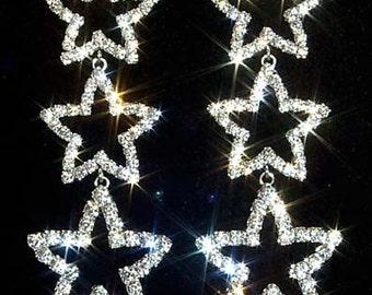 Style # 11963 - Triple Star Drop Earrings