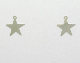 925 Sterling Silver Star Charms, Set of 2 - stc-SS123