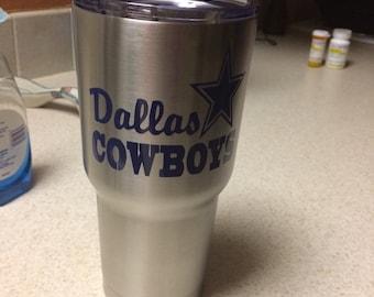 Dallas cowboys decal, football decal, Dallas decals, Cowboys decals,  sports decals, yeti decals Football, Texas football decals,