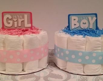 It's a Girl/Boy Diaper Cake, Girl Boy Neutral Diaper Cake, Baby Shower Centerpiece, Girl or Boy Diaper Cake, Baby Shower Gift, Diaper Cake