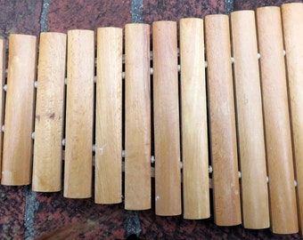 Wooden Handmade Xylophone 12 Note Musical Instrument Toy Rustic Wood Musical Vintage Toy Musician Toy Child's gift