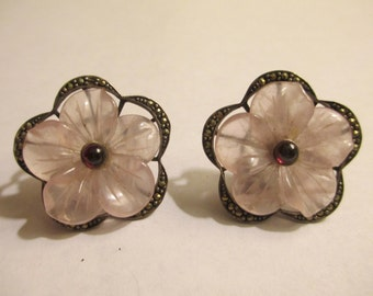 Marcasite Flower Earrings