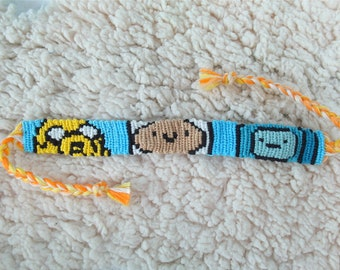 Adventure Time Bracelet, Friendship Bracelet, Alpha Bracelet