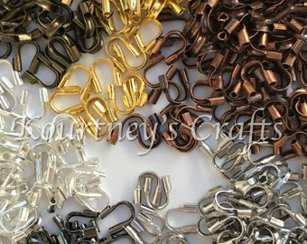 4mmx5mm 540 Brass Wire Guardian Wire Protector Assorted Finishes