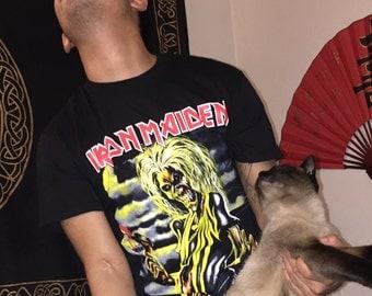 Iron Maiden tee, Iron Maiden t shirt , Iron Maiden shirt, free shipping