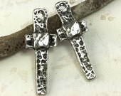 Cross Charms, Handcrafted,  Handmade, Jewelry Making Supplies No. 439CP