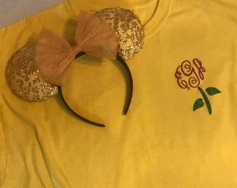Belle Rose Inspired Monogram T-Shirt