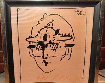 Mid Century--Peter Max signed Litho--1977