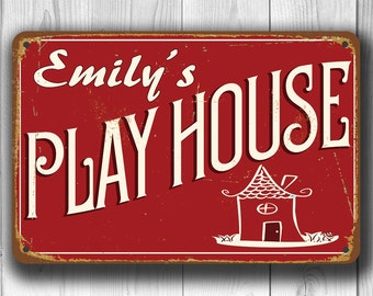 PERSONALIZED PLAYHOUSE Sign, Customizable Playhouse Signs, Playhouse Sign, Playhouse, Vintage Style Playhouse Signs, Playhouse Decor