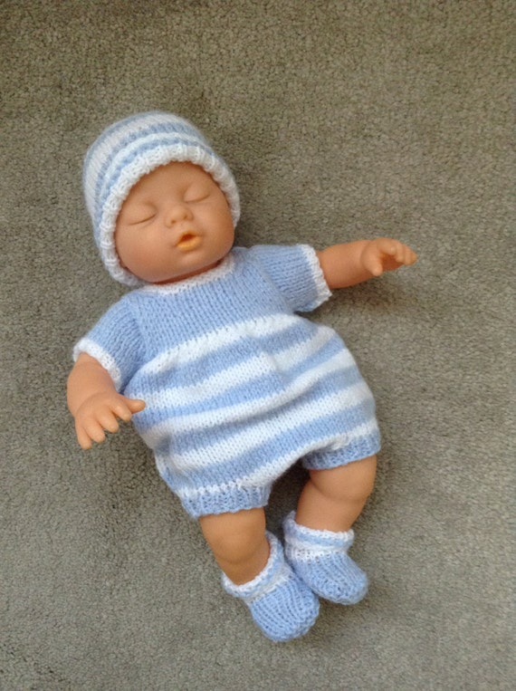 Hand Knitted Dolls Clothes To Fit A 12 Doll Reborn