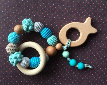 Fish wooden teether