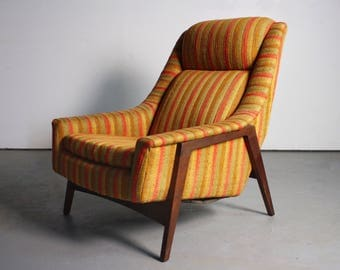 Early Mid Century Lounge Chair by Folke Ohlsson for Dux