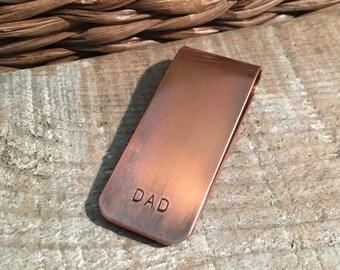 Dad Copper Money Clip, Best Dad Ever Gift, Father Money Clip, Gift To Dad From Kids, Father's Day Gift For Dad, Little Bit Of Money