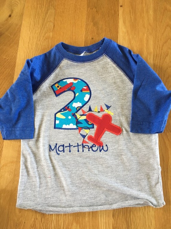 Boys first second any age airplane birthday shirt, 1 2 3 4 5 Birthday Shirt, any colors Birthday shirt, plane shirt, monogrammed personalize