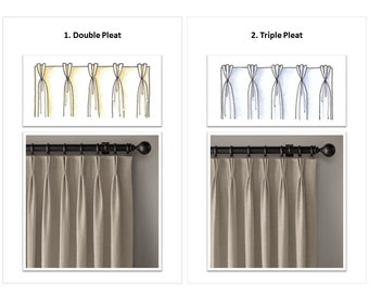 Top Style Upgrade to Listing Drapery Panel /Curtain; French Pleat, Pinch Pleat, Inverted Pleat, Euro Pleat,Pleat Tape,Tailored Pleat