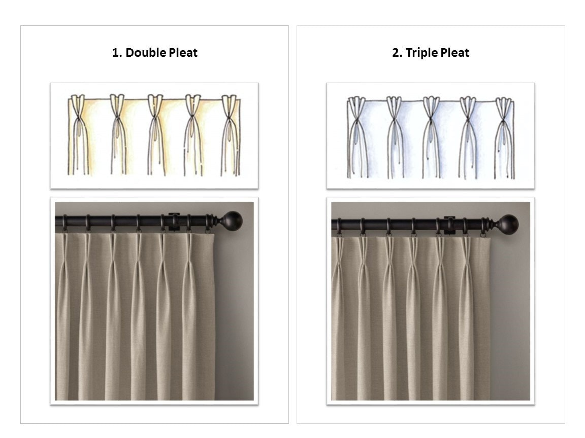 Top Style Upgrade To Drapery Panel Curtain Double Pleat