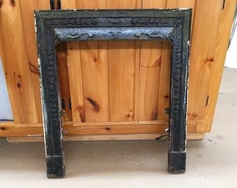 Antique (#1) Architectural Salvage Victorian Era Ornate Cast Iron Fireplace Surround