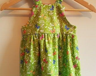 Girls Lime Green Dress - Age 3