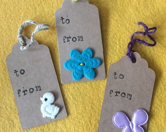 Handmade Paper Gift Tag Assortment