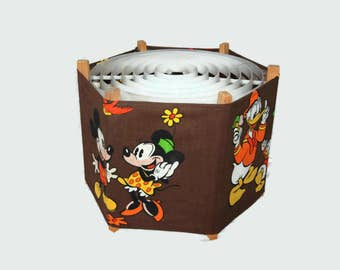 70's Mickey and Minnie lamp shade