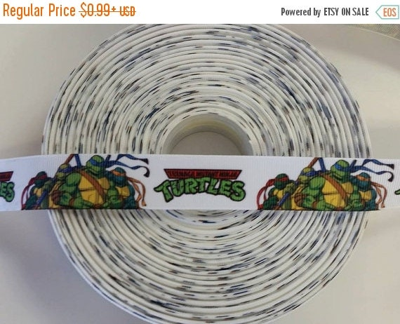 "SUPER SALE TMNT Ninja Turtles Inspired 7/8"" 22mm Grosgrain Hair Bow Craft Ribbon 781743"
