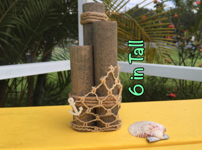 Nautical tree ornaments - Beach Piling Dock Piling Nautical Decor Beach Wedding Decor Decorative Piling