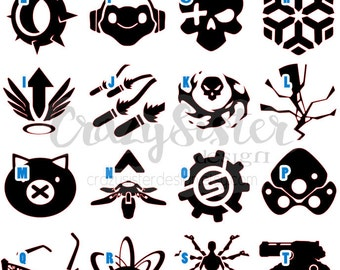Overwatch Ultimate Skill Icon Vinyl Decal, Decal for Windows, Cars, Laptops, Water Bottles, Coolers, Mugs and much more!