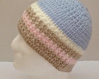 crochet slouchy beanie for children, slouchy beanie hat, crochet beanie hat, crochet toddler hat, kid size slouchy hat, children's beanie