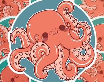 Kawaii Octopus Nugget Sticker ( cute chibi stickers )
