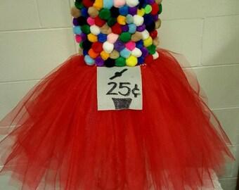 Bubble gum machine tutu costume