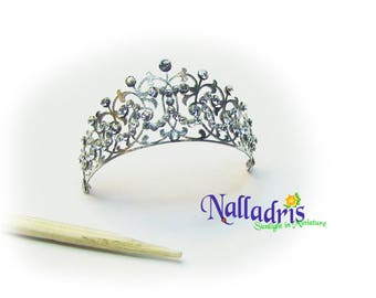 Miniature Sterling silver and crystal Tiara