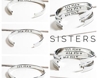 Sisters Gift | Big Sis | Mid Sis | Lil Sis | Personalised Sister Bracelets | Personalized Jewelry |Set of 3| Gift ideas for Sisters (C021)