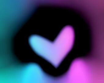 The Heart - Romantic Abstract Art - Digital Art piece (Instant Download)
