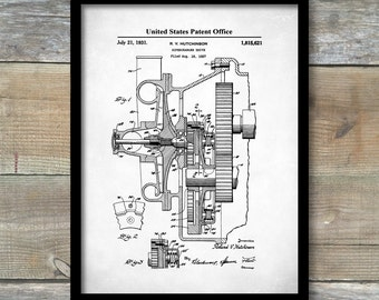 Car blueprint etsy supercharger patent print art print patent poster auto art blueprint art malvernweather Choice Image