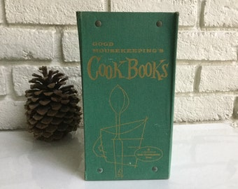50s File of Good Housekeeping Cookbooks Aqua/Green Book