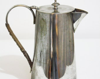 EPNS Silver Plated Water Jug with Reeded Handle